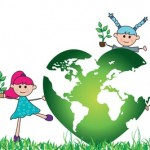 green world with children